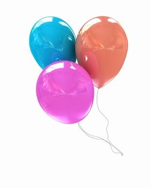 3 Helium Balloons